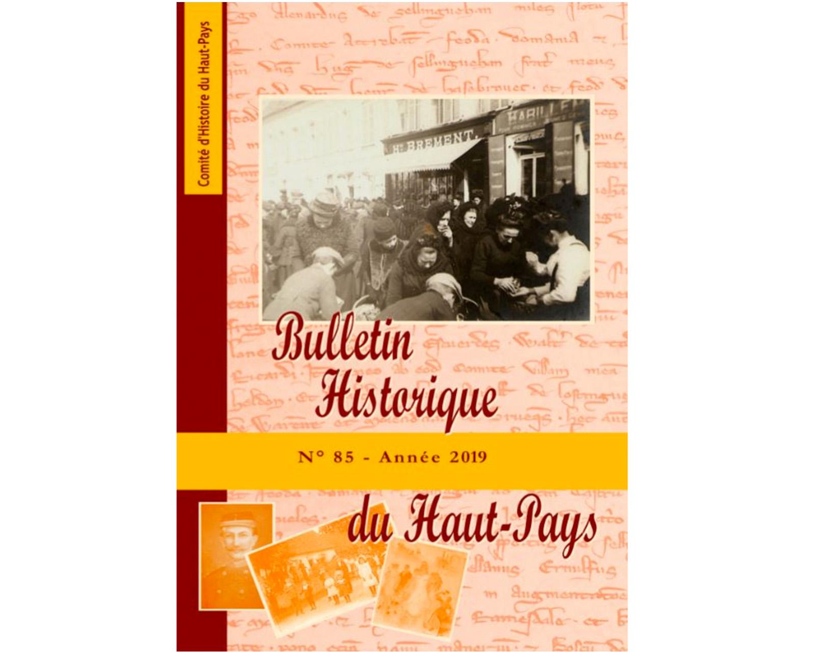 Bulletin historique du Haut-Pays, n°95