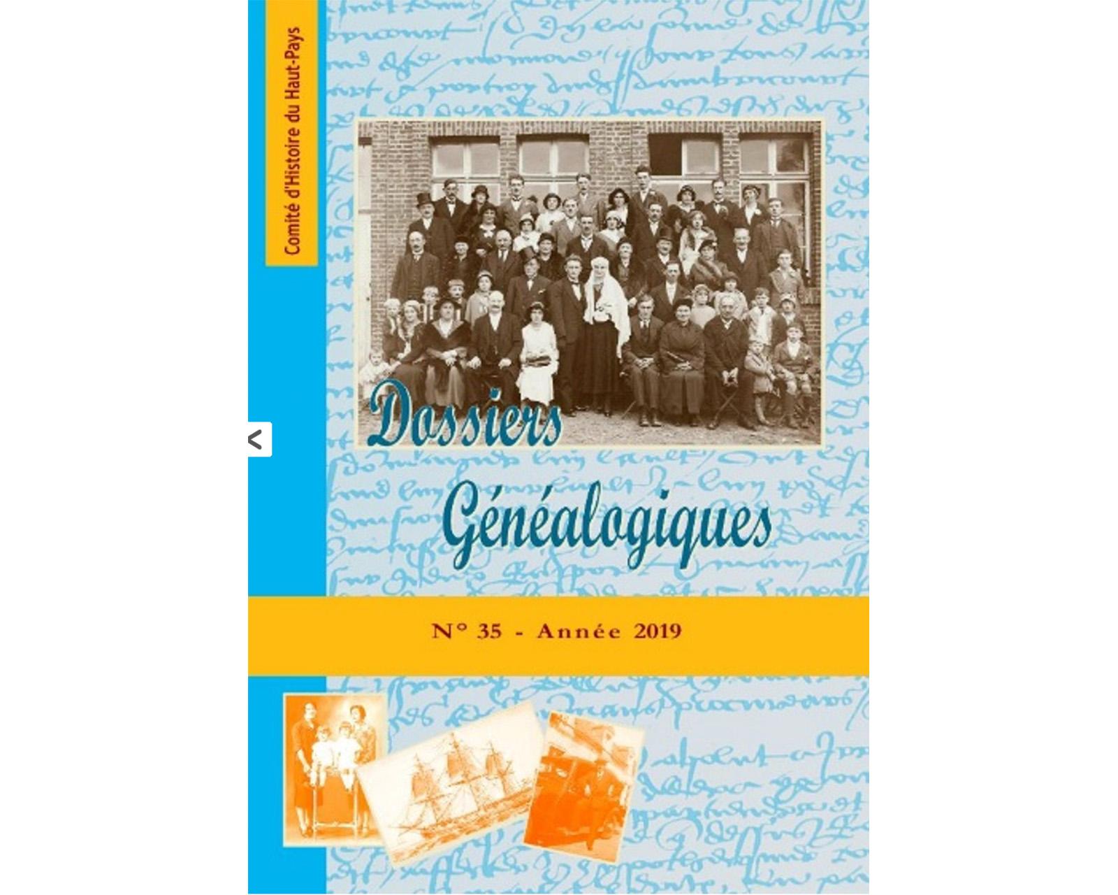 Dossiers généalogiques, n°35